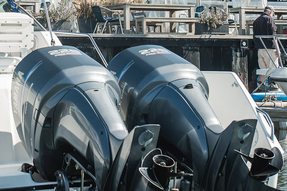 Yamaha Outboards at Lake Yard