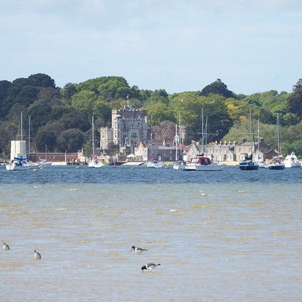 Brownsea Castle in Poole Harbour