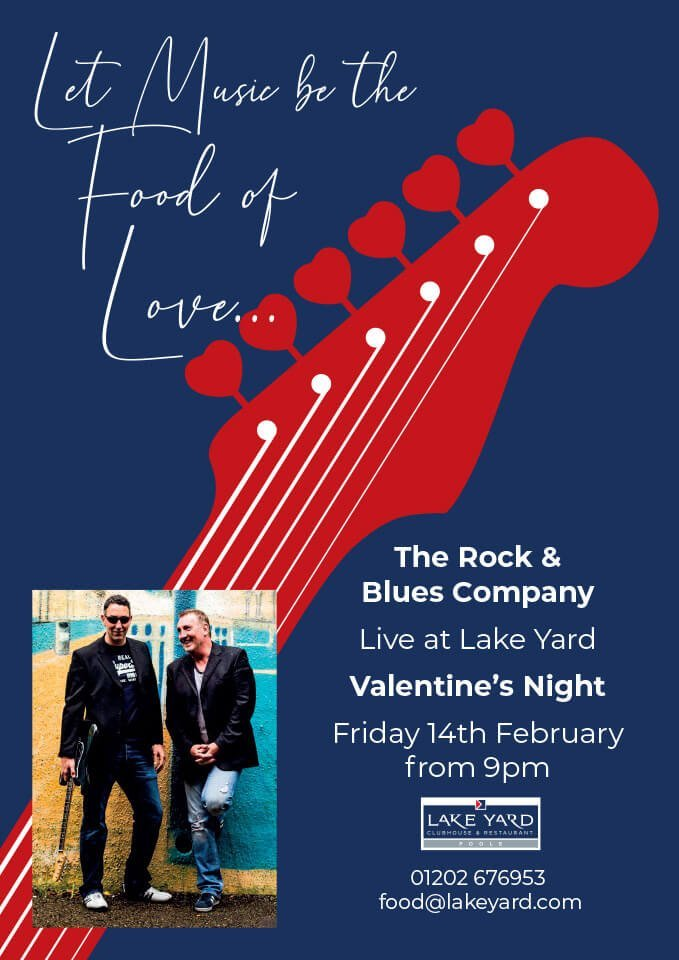 Lake Yard Valentine's Night with Live Music from The Rock & Blues Company